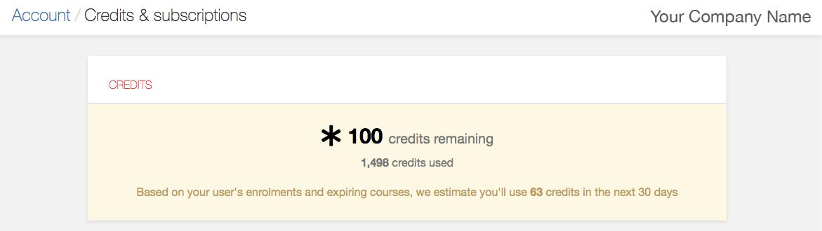 iHASCO's credit needs estimator