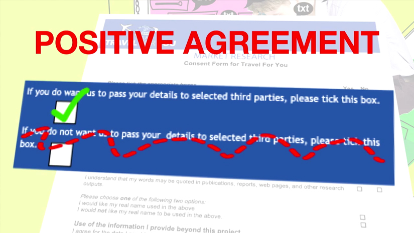 Data Protection - requirement for positive agreement