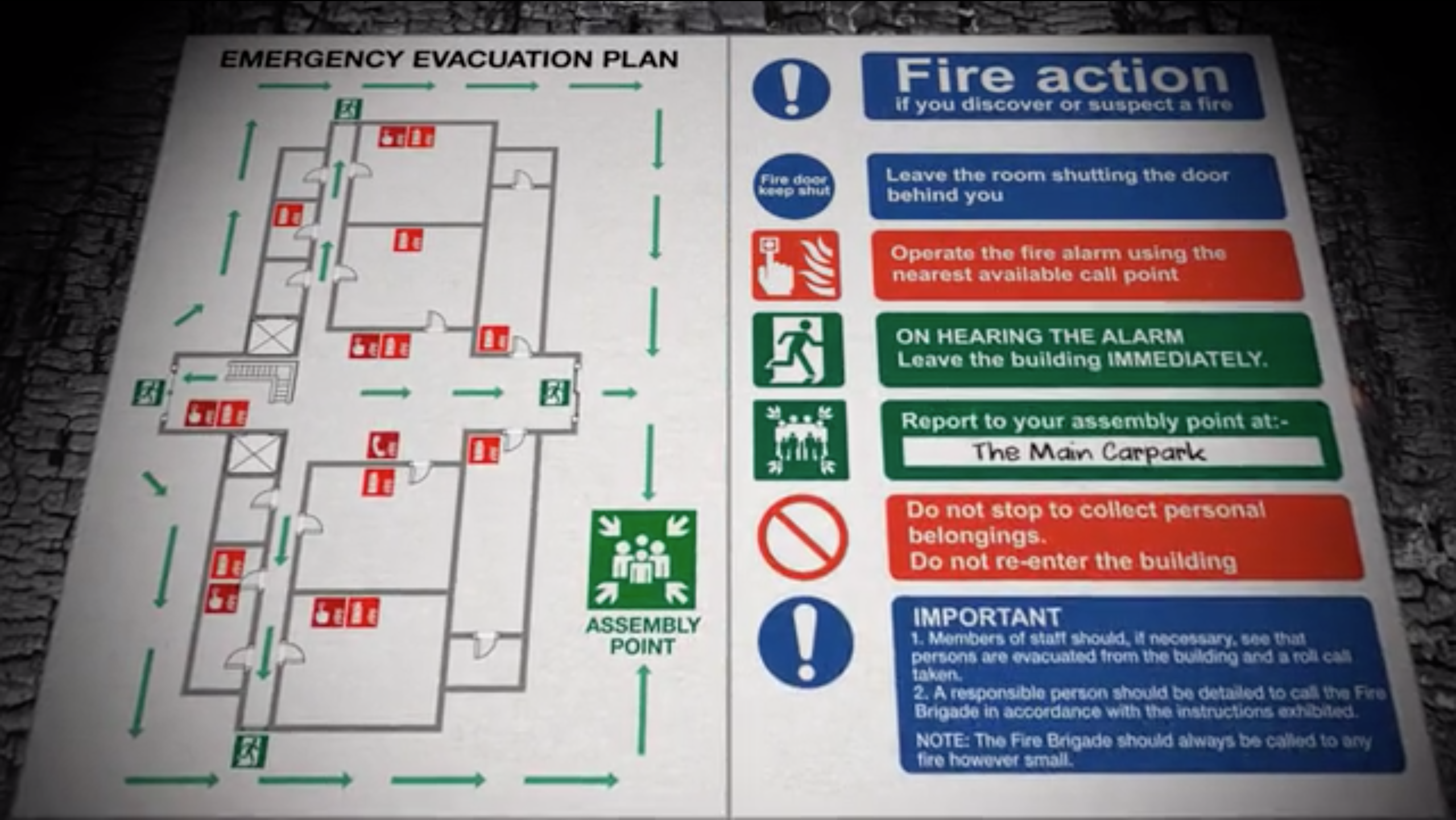Fire safety signage for heritage buildings