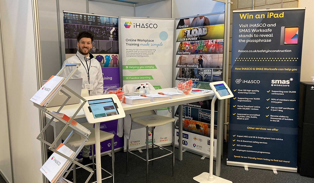 Our stand at the Safety in Construction Show