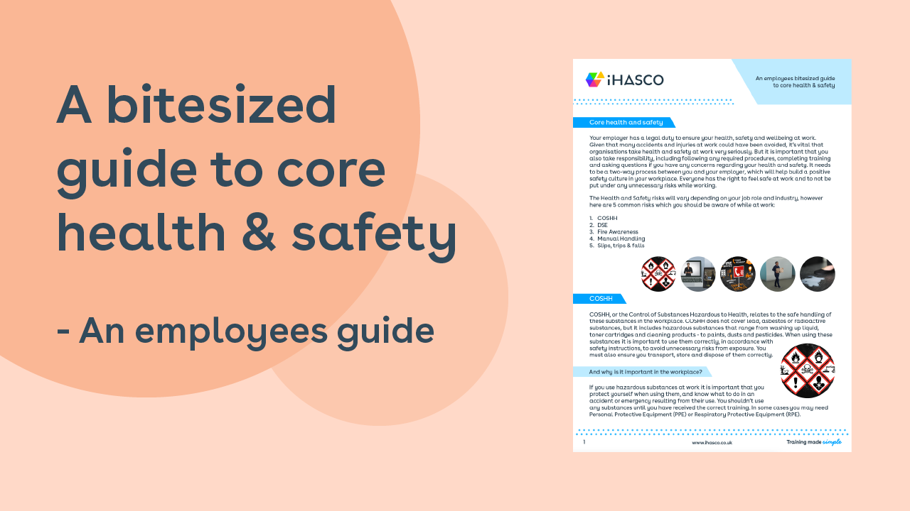 A bitesized guide to core health and safety. An employees guide.
