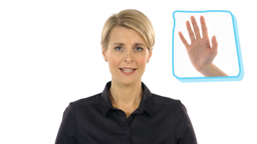 Image showing a hand to represent the 5 principles of the Mental Capacity Act
