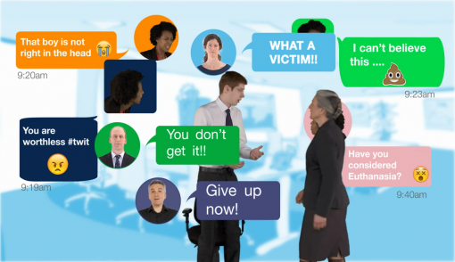 Image showing the different types of bullying and harassment that can occur in the workplace