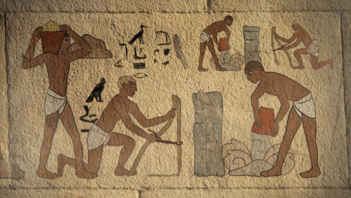 Hazardous substances have been around as long as mankind itself, ancient Egyptians are shown in this image as part of COSHH  training