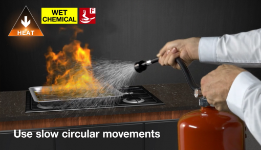 Looking at the different types of fire extinguishers and what types of fires you should use them on.