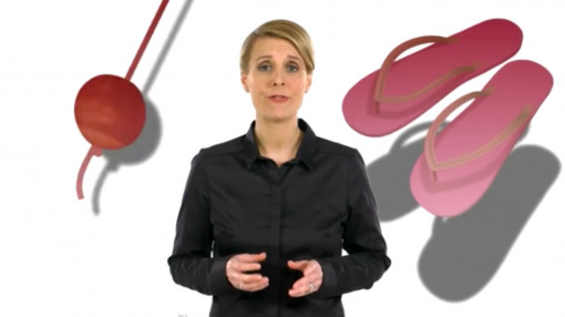 Screenshot of the female presenter for the Health and Safety for Managers course