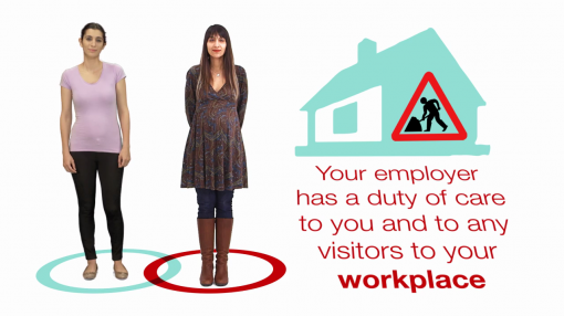Image of employer and employee to highlight that both parties have responsibilities