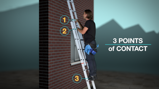 Our Ladder Safety Training concludes with safe ladder use and etiquette.