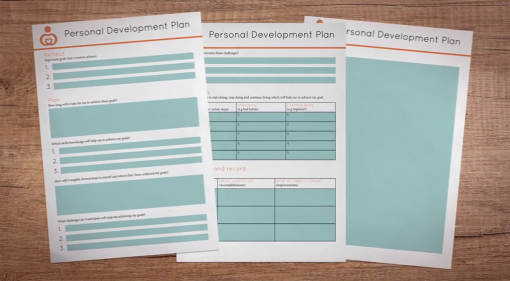 A screenshot from section 1 of Personal Development Plan Training