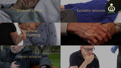 Possible accidents and illnesses in care