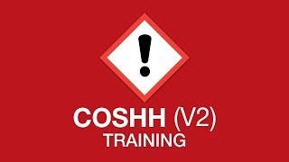 COSHH training youtube thumbnail