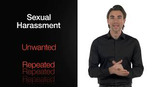 What is sexual harassment? youtube thumbnail